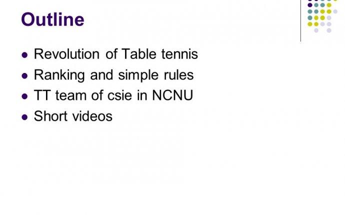 Table tennis team in Ncnu - ppt download