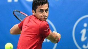 Four games: Spain's Nicolas Almagro lasted just 23 minutes before retiring injured.