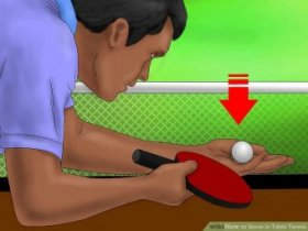 Image titled Serve in Table Tennis Step 1