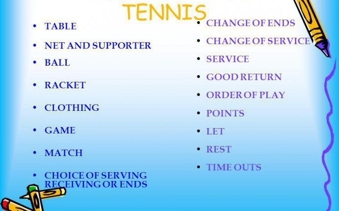 Rules of serving in table tennis